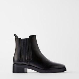 Zara Flat Leather Boots